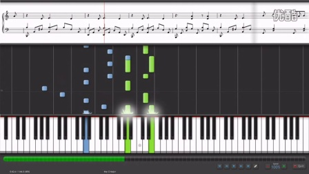 YUI piano Synthesia Rolling Star