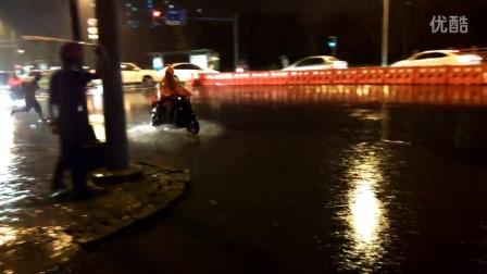 成都驷马桥暴雨积水严重