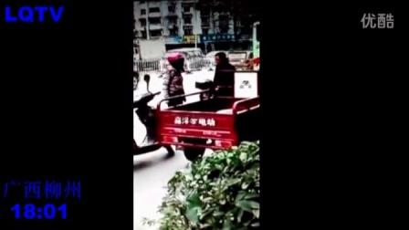 实拍 广西柳州一彪悍女对下跪的老实大叔又打又骂,彪悍女 惹不起啊?