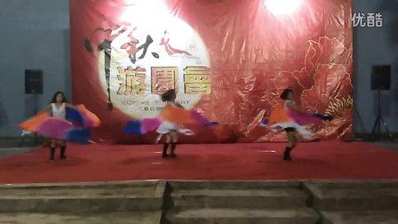 中秋双扇舞表演圆圆肚皮舞演出