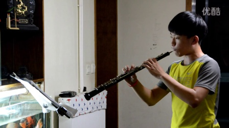 十四岁男孩演奏的《圣桑  双簧管协奏曲》