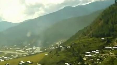 空客A319高原型客机降落不丹帕罗机场15号