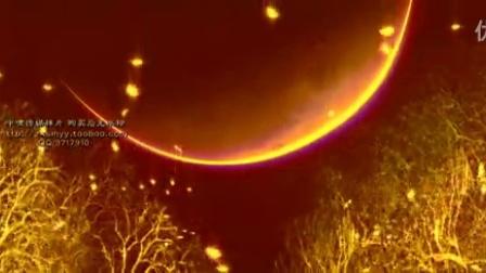 CP736说好的幸福呢 唯美星空月亮森林树晚会舞台LED视频动态背景_标清