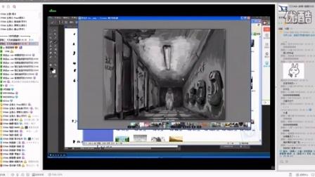 游戏原画CG插画教程第一百二十五集-场景的构图解密02