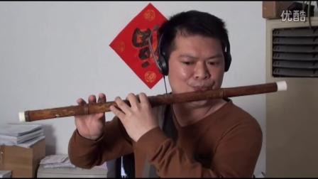 管子先生湘妃竹笛花斑笛子视频演奏《姑苏行》