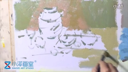 水粉静物 2015111605 小泽画室 ms211 美术视频