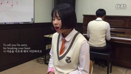 超赞,韩国女高中生翻唱Adele新单《Hello》