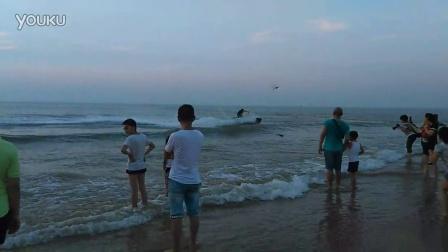 山东日照海滩日出