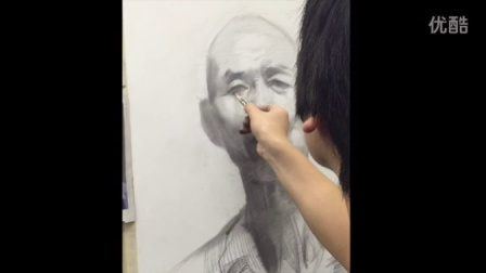 素描头像 2015111702 小泽画室 ms211 美术视频