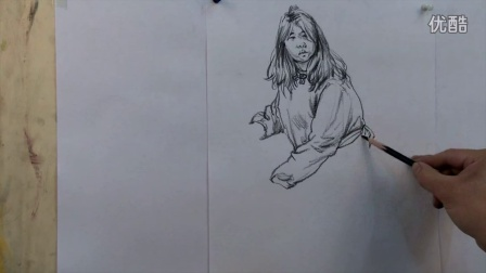 人物速写 2015111722 校尉画室 ms211 美术视频