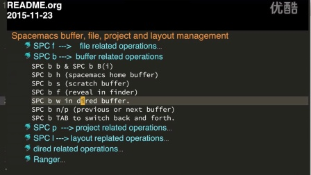 Spacemacs buffer, file, project and layout management