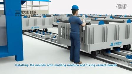 泉州三联机械移动墙板生产线,轻质墙设备、保温隔热板设备