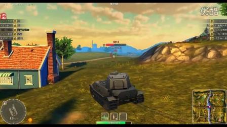 【坦克英雄】7级坦克VK4502P的三连杀