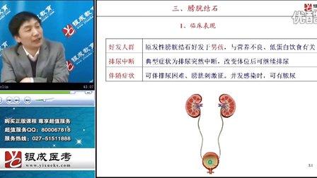 中医知识 执业医师考试笔试 尿石症与泌尿系统肿瘤
