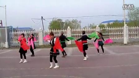 广场舞红红热闹闹。原创;大庆百灵,最好学又简单的大秧歌步,_高清