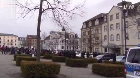 德国防暴警察强力维稳