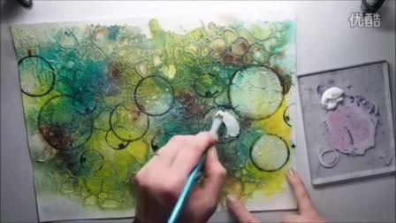 Mixed Media Art Journal - magical background Tutorial
