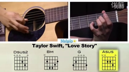 Love Story by Taylor Swift 吉他教学_高清