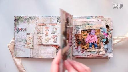 Blue Fern Studios scrapbook mini album An Autumn Story