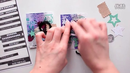 ColourArte mini cards-Скрапбукинг. Быстрые микс-медий