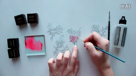 Card tutorial - coloring on vellum with Altenew Crisp Inks