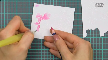 Easy watercolor with Faber Castell Aquarelle Pencils and Altenew stamps