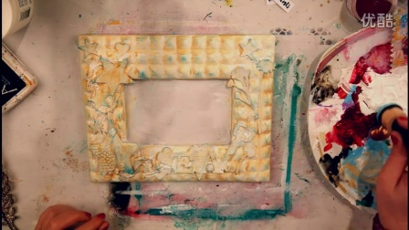 Altered Mixed Media Picture Frame