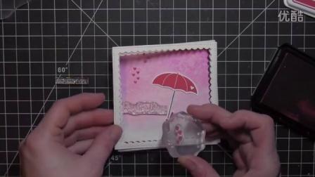 Pretty Pink Posh - Bright Days Umbrella Shaker Card
