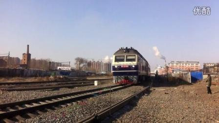 道机联控 K7301次乌兰浩特至大连DF110199 沈局吉段 乌兰浩特车站南侧