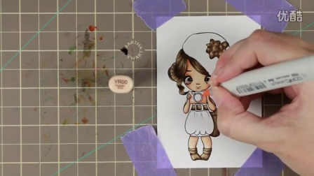 Miss Lilly Reporter - Colouring and Card Tutorial