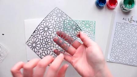 МК по созданию открытки с фоновой вырубкой -