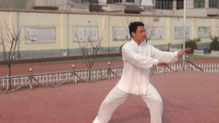 秀珠小学李占朝老师大课间太极拳第八式
