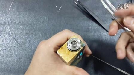 重力蒸汽316五子棋雾化器kflp five pawns做芯教程及使用技巧