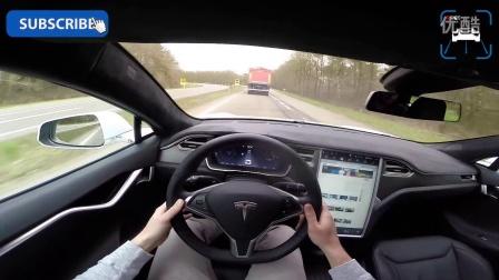 2016特斯拉Tesla Model S P90D 240 km-h 加速