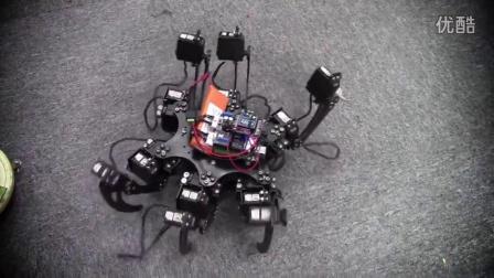 蜘蛛机器人,万种姿势,翻身自如!