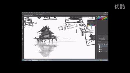 游戏场景绘画教程|场景设计稿制作教程
