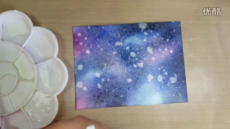 Ink Blending Galaxy Background Card (ft. Mama Elephant stamps)