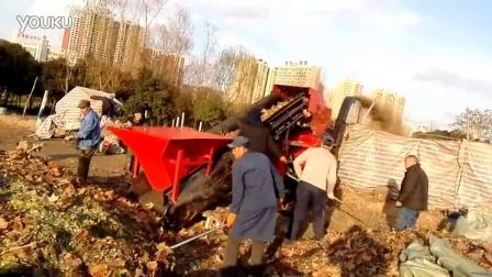 新型可移动树叶粉碎机工作视频