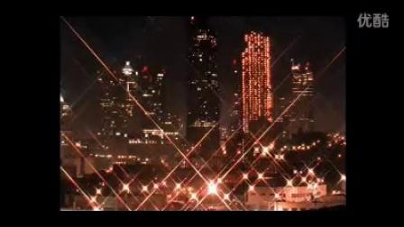 城市夜景 灯光璀璨 高清实拍视频素材