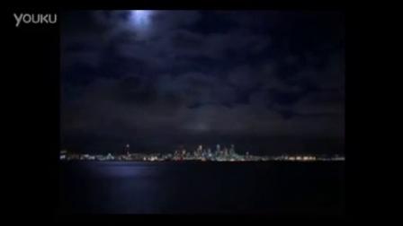 海上月亮城市夜景高清实拍视频素材
