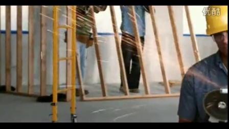 建筑工人车间打磨 高清实拍视频素材