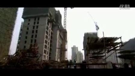 实拍商务大楼建筑工地巡查