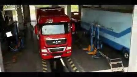 物流公司建筑货车运输展示