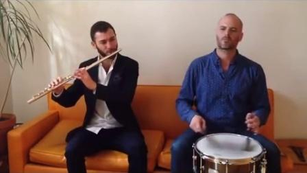 #CanopusStage# Itai Kriss和Dan Aran,用一颗军鼓和一支长笛就已经可以在客厅玩起来了!