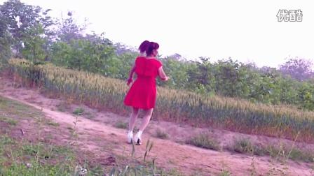 2016贾峪朱丽自娱自乐广场舞【dj拥抱】编舞,蓝莓