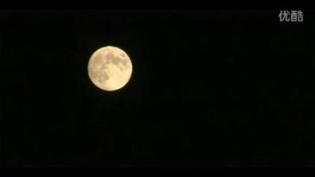 月亮特写高清实拍视频素材