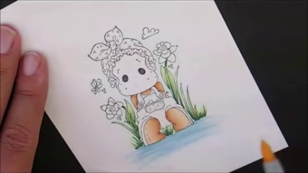 Lacy Tilda Copic Coloring Card Class