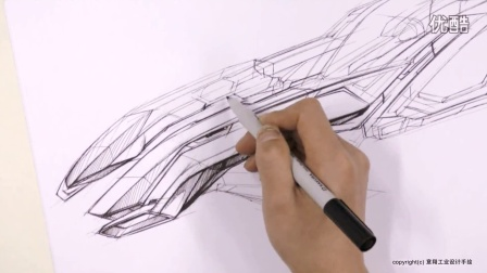 意翔手绘概念飞船设计