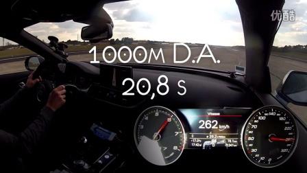 奥迪Audi RS7 Performance 0 - 300 km-h加速