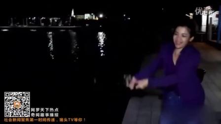 泰国一美女夜晚钓鱼 钓上庞然大物惊呆所有人